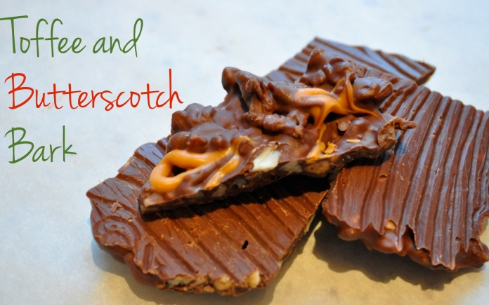 toffee and butterscotch bark